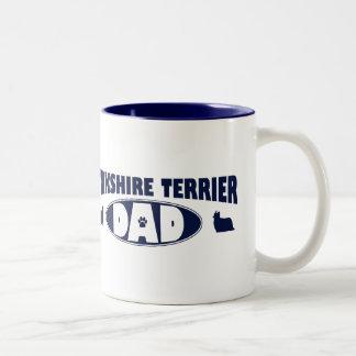 Yorkshire Terrier Dad Two-Tone Coffee Mug