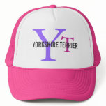 Yorkshire Terrier Dog Breed Trucker Hat/Cap Trucker Hat
