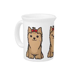 Yorkshire Terrier Dog Cartoon Drink Pitchers