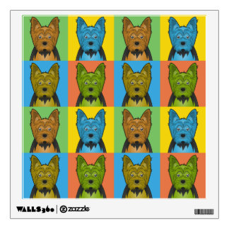 Yorkshire Terrier Dog Cartoon Pop-Art Wall Sticker