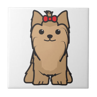 Yorkshire Terrier Dog Cartoon Tile