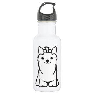 Yorkshire Terrier Dog Cartoon Water Bottle