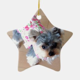 Yorkshire Terrier/Dog Ceramic Ornament