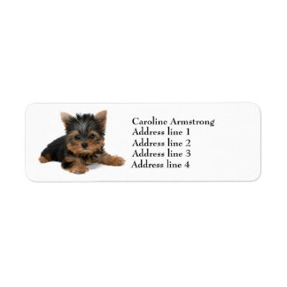 Yorkshire Terrier dog custom return address labels
