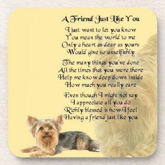 Yorkshire Terrier Dog - Friend Poem Coaster