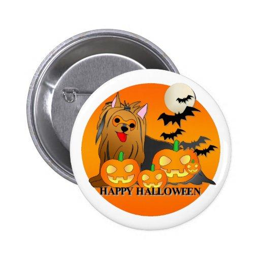 Yorkshire Terrier Dog Halloween 2 Inch Round Button
