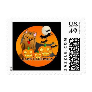 Yorkshire Terrier Dog Halloween Postage