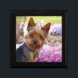 """Yorkshire Terrier dog  jewelry box, trinket box<br><div class=""""desc"""">Beautiful photo of a yorkshire terrier dog trinket box,   gift box,  jewelry box.  great gift idea for dog lovers</div>"""