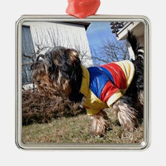 Yorkshire Terrier Dog Metal Ornament