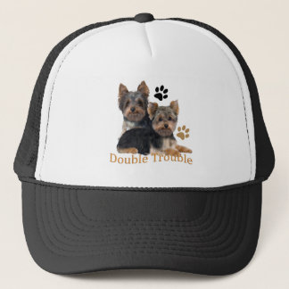 Yorkshire Terrier Double Trouble Apparel Trucker Hat