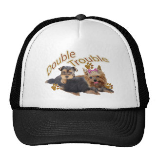 Yorkshire Terrier Double Trouble Casual Apparel Mesh Hats