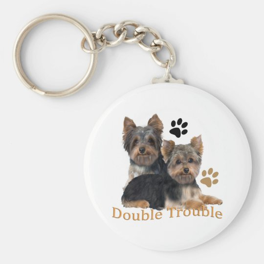 Yorkshire Terrier Double Trouble Gifts Keychain