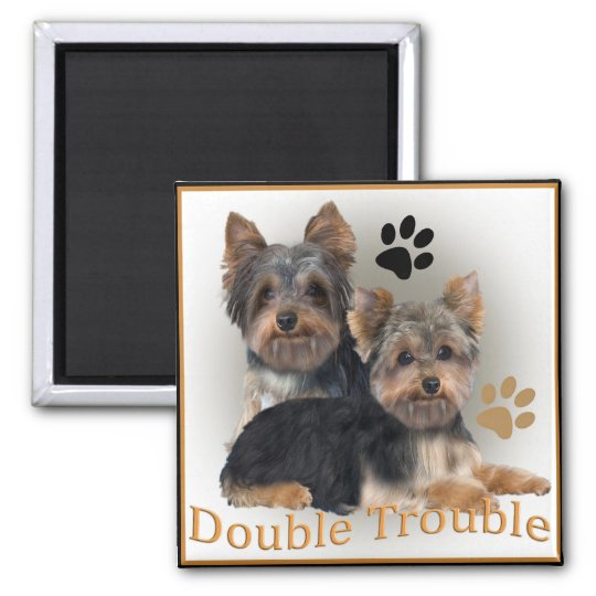 Yorkshire Terrier Double Trouble Gifts Magnet