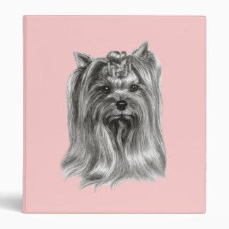 Yorkshire Terrier Drawing 3 Ring Binder