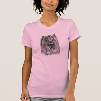 Yorkshire Terrier Drawing T-Shirt