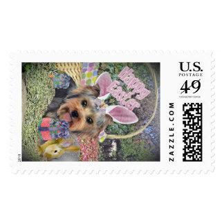 Yorkshire Terrier Easter Postage Stamps