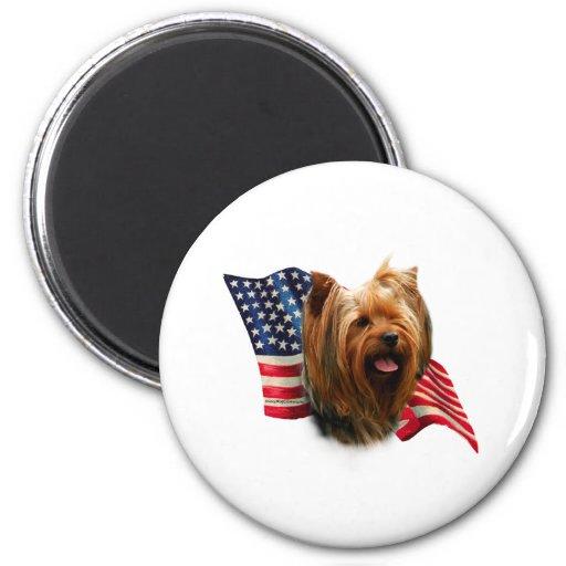 Yorkshire Terrier Flag Magnet