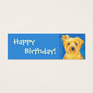 "Yorkshire Terrier Gift Tag - ""Sammy"""