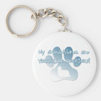 Yorkshire Terrier Grandchildren Keychains