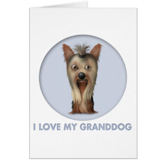 Yorkshire Terrier Granddog Card