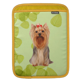 Yorkshire Terrier ~ Green Leaves Design iPad Sleeve