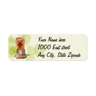 Yorkshire Terrier ~ Green Leaves Design Label