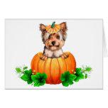 Yorkshire Terrier Halloween Jack-O-Lantern Greeting Cards