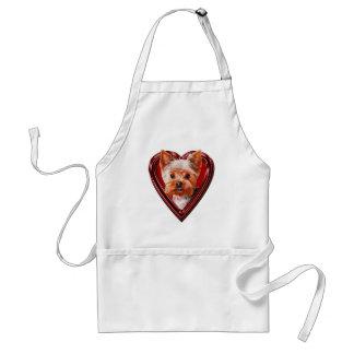 Yorkshire Terrier Heart Apron