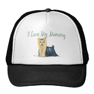 "Yorkshire Terrier ""I Love My Mommy"" Portrait Trucker Hat"
