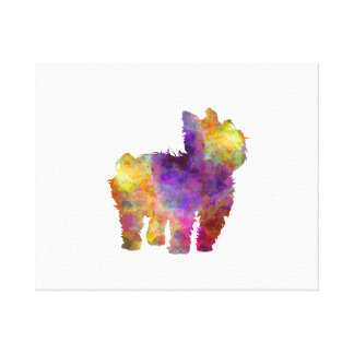 Yorkshire Terrier in watercolor 2 Canvas Print