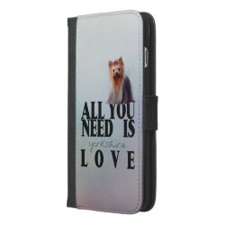 iPhone 6/6s Plus Wallet Case with Yorkshire Terrier Phone Cases design