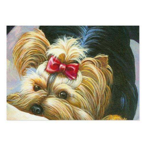 Yorkshire Terrier juguetón Plantillas De Tarjetas Personales