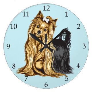 Yorkshire Terrier Large Clock