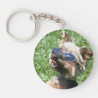 Yorkshire Terrier Llavero Redondo Acrílico A Una Cara