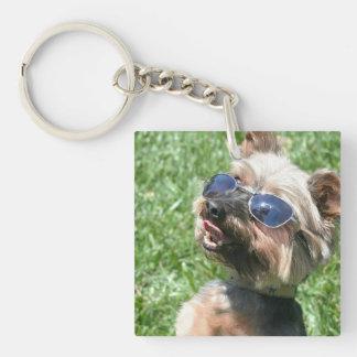 Yorkshire Terrier Llavero Cuadrado Acrílico A Doble Cara