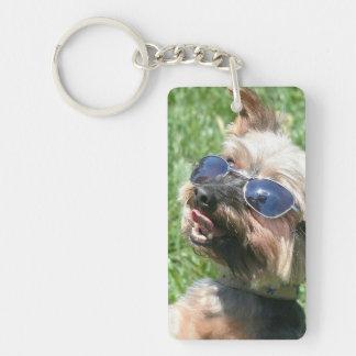 Yorkshire Terrier Llavero Rectangular Acrílico A Una Cara