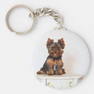 Yorkshire Terrier Llavero Redondo Tipo Pin