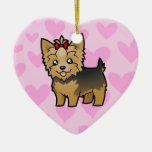 Yorkshire Terrier Love (add your message) Ornament