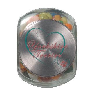 Yorkshire Terrier Love Glass Jars
