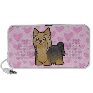 Yorkshire Terrier Love (long hair) add a pattern Portable Speaker