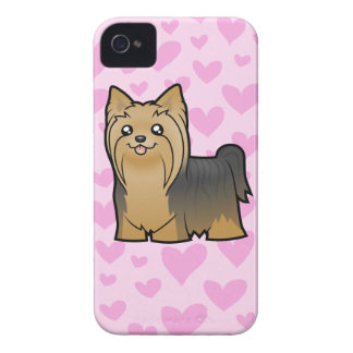 Yorkshire Terrier Love (long hair no bow) Case-Mate iPhone 4 Case