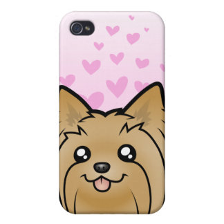 Yorkshire Terrier Love (long hair no bow) Covers For iPhone 4
