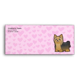 Yorkshire Terrier Love (long hair no bow) Envelope