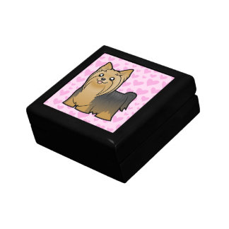 Yorkshire Terrier Love (long hair no bow) Gift Box