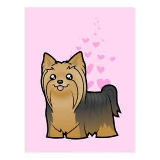 Yorkshire Terrier Love (long hair no bow) Postcard