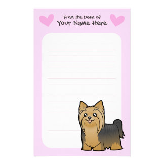 Yorkshire Terrier Love (long hair no bow) Stationery