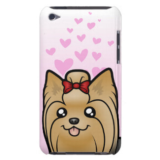 Yorkshire Terrier Love (long hair with bow) Case-Mate iPod Touch Case