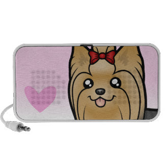 Yorkshire Terrier Love (long hair with bow) Travelling Speaker