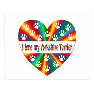 Yorkshire Terrier Love Postcard