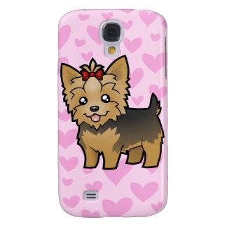 Yorkshire Terrier Love (short hair) add a pern Galaxy S4 Cases
